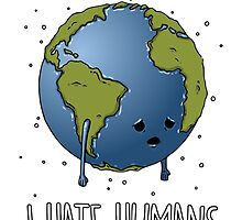 I Hate humans (white) by GreatDesignBR