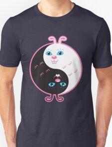 Cute rabbits yin yang  T-Shirt