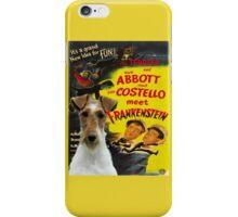 Wire Fox Terrier Art - Meet Frankenstein Movie Poster iPhone Case/Skin