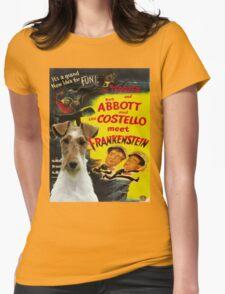 Wire Fox Terrier Art - Meet Frankenstein Movie Poster T-Shirt