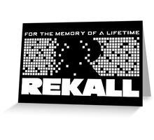 Rekall - Total Recall (White) Greeting Card