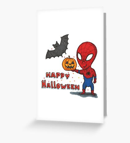 Spider-Halloween Greeting Card