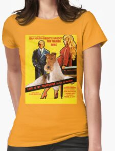 Wire Fox Terrier Art - Love Is My Profession Movie Poster T-Shirt