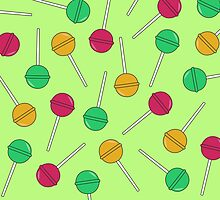 Lollipops Lime/Green Pattern by TheMinimalist