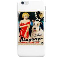 Wire Fox Terrier Art - Niagara Movie Poster iPhone Case/Skin
