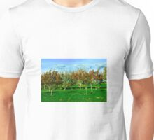 East Hampton Leaves Changing Color in Fall Landscape - Hamptons Unisex T-Shirt