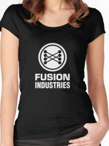 Fusion Industries - Back to the Future (White) Women's Fitted Scoop T-Shirt