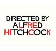 I'm an actor - directed by Alfred Hitchcock Art Print