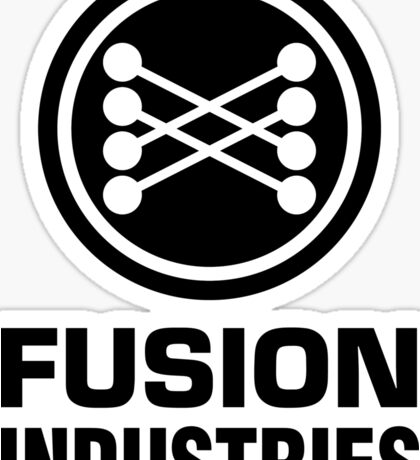 Fusion Industries - Back to the Future (Black) Sticker