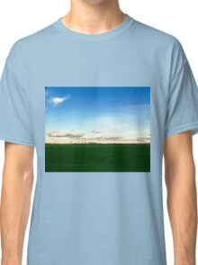 East Hampton Landscape on a Fall Day - Blue and Green Classic T-Shirt