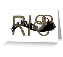 Abstract Rio de Janeiro skyline Greeting Card