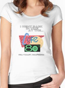 I Went Back In Time at the Cafe 80s - Back to the Future Women's Fitted Scoop T-Shirt