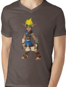Jak Low poly White lines version  Mens V-Neck T-Shirt