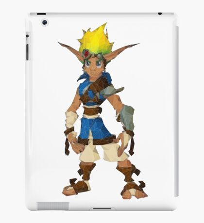 Jak Low poly White lines version  iPad Case/Skin
