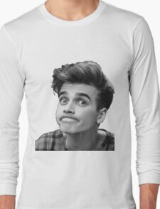 Joe Sugg (Black + White) Long Sleeve T-Shirt