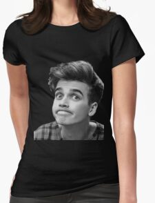 Joe Sugg (Black + White) Womens Fitted T-Shirt