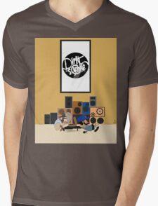 Blu & Exile Peanuts Mens V-Neck T-Shirt