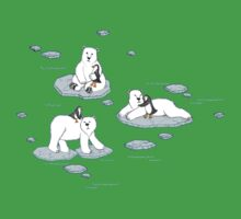 Polar Bear Loves Penguin One Piece - Short Sleeve