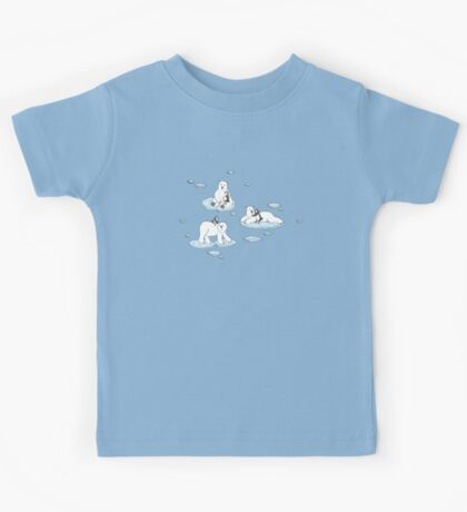 Polar Bear Loves Penguin Kids Tee