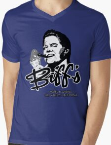 Biff's Hotel and Casino Mens V-Neck T-Shirt