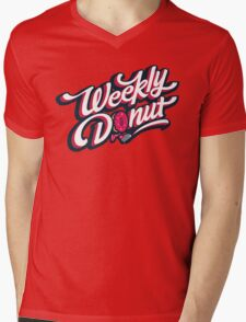 WeeklyDonut Podcast Logo Mens V-Neck T-Shirt