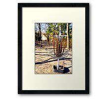 Disc Golf Basket Framed Print