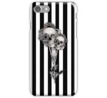 Gothic Youth Skulls with Poppies iPhone Case/Skin