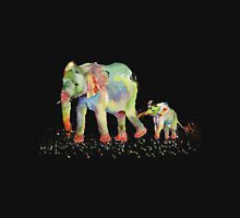 Colorful Elephant Family Unisex T-Shirt
