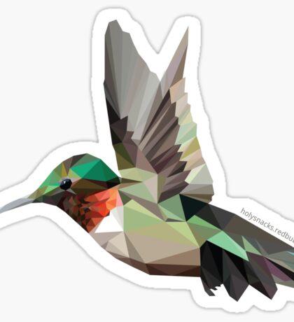 Geometric Hummingbird  Sticker