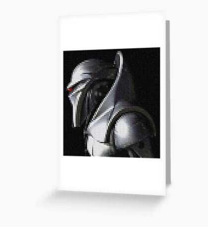 Reimagined Cylon Centurion (Pixelated) Greeting Card