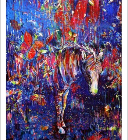 zebraskate Sticker