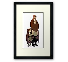 Qui Gon and Padawan Framed Print