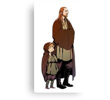 Qui Gon and Padawan Canvas Print