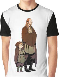 Qui Gon and Padawan Graphic T-Shirt