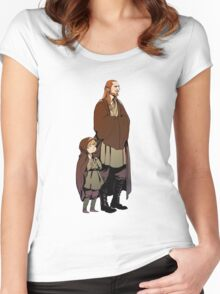 Qui Gon and Padawan Women's Fitted Scoop T-Shirt