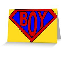 Hero, Heroine, Superhero, Super Boy Greeting Card