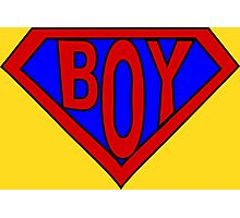 Hero, Heroine, Superhero, Super Boy Photographic Print