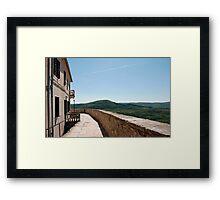 Buildings in Motovun Framed Print
