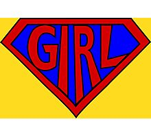 Hero, Heroine, Superhero, Super Girl Photographic Print