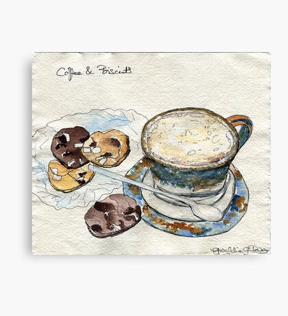 Coffee & Biscuits Canvas Print