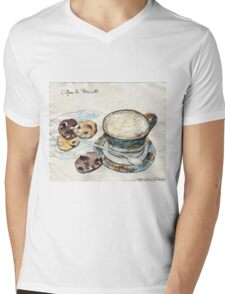 Coffee & Biscuits Mens V-Neck T-Shirt