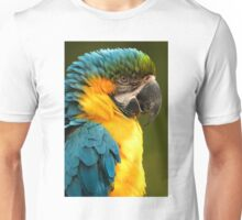 Macaw with Ruffled Feathers Unisex T-Shirt