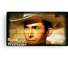 Hank Williams Wall Art Canvas Print