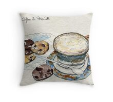 Coffee & Biscuits Throw Pillow