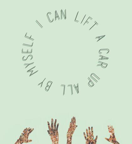 """I Can Lift A Car"" (Walk The Moon) original artwork by Emma Watts Sticker"