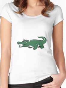 Crocodile funny naughty Women's Fitted Scoop T-Shirt