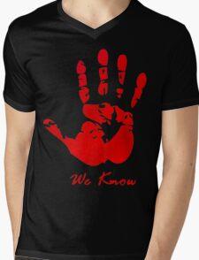 Skyrim Dark Brotherood Mens V-Neck T-Shirt