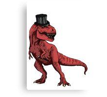T-rex Tophat   Canvas Print