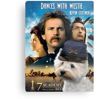 West Highland White Terrier Art - Dances with Wolves Movie Poster Metal Print
