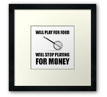 Banjo For Money Framed Print